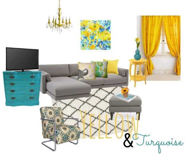 Yellow and Turquoise decor inspiration