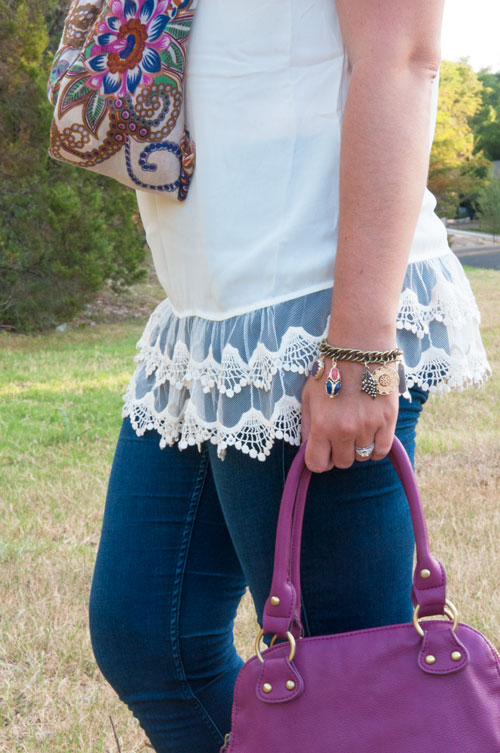 All That Glitters Blog- Lace trimmed tunic
