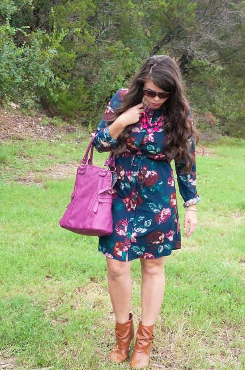 All That Glitters Blog- Navy and Burgundy Dress