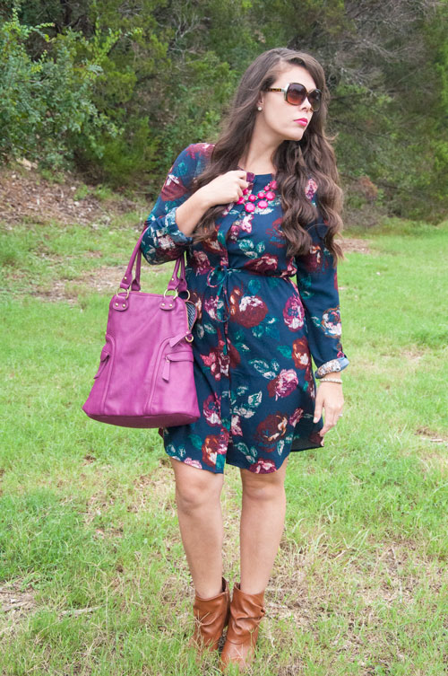 All That Glitters Blog-Navy and Purple Outfit for Fall