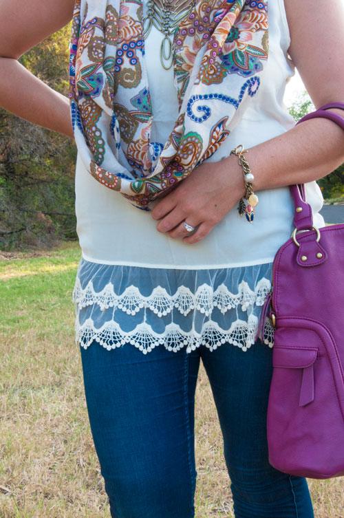 All That Glitters- Purple boho scarf