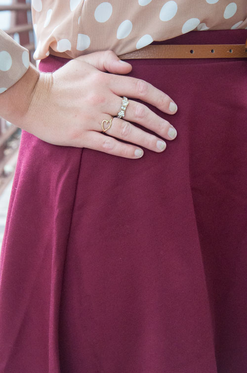Bow ring and heart ring- cute accessories