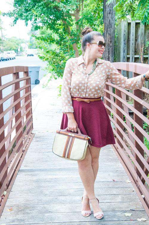Burgundy Circle skirt