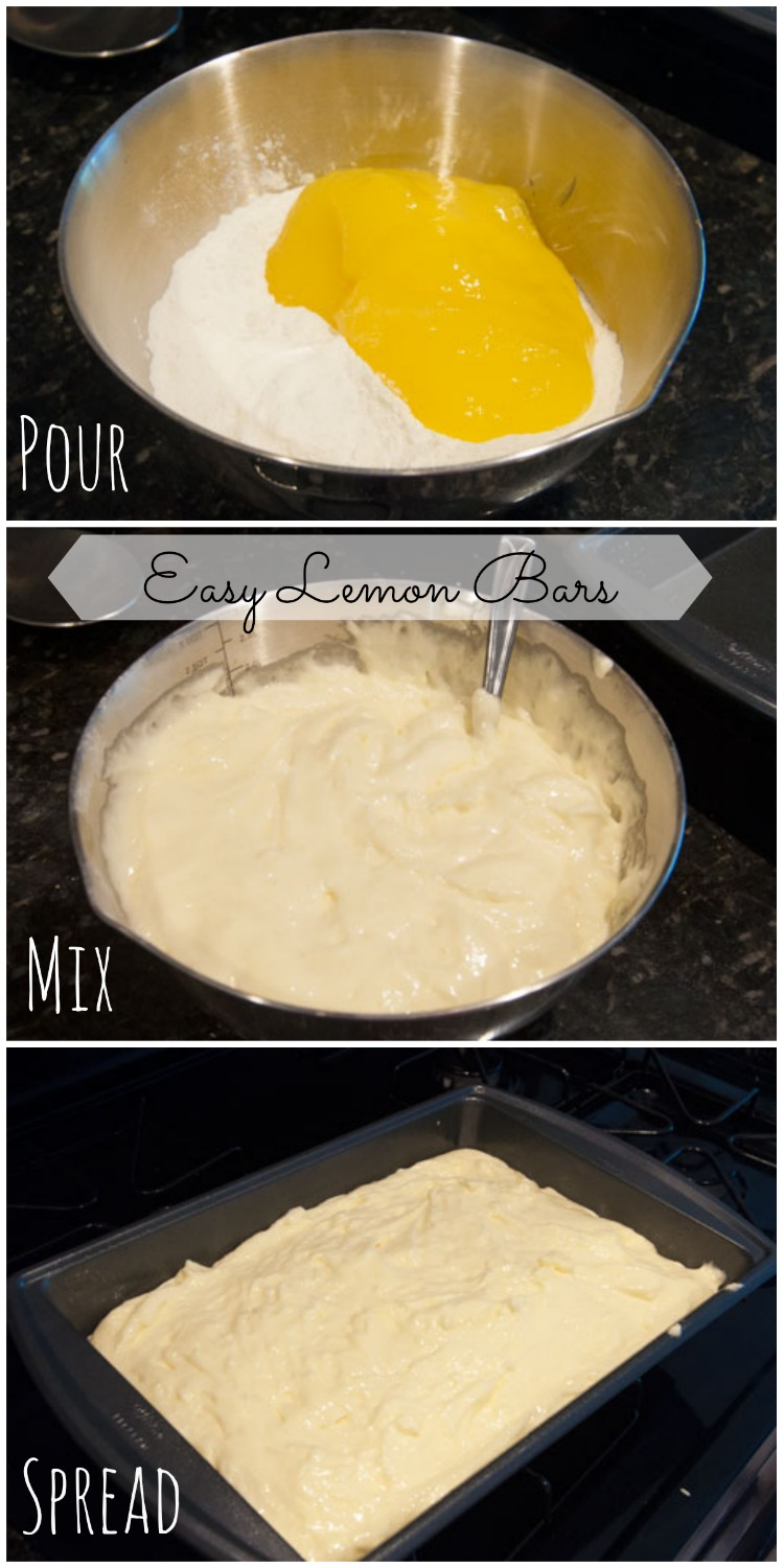 Easy Lemon Bars in 3 steps