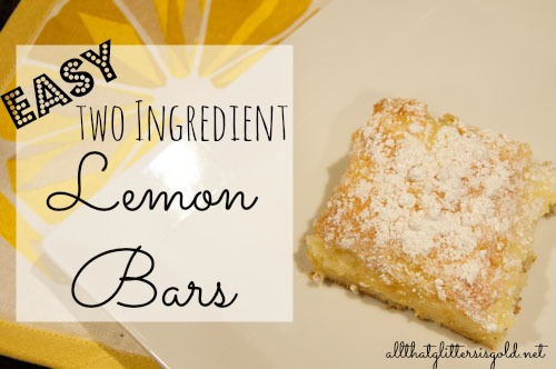Easy two ingredient lemon bars