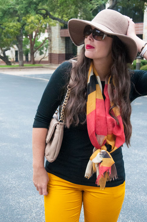 Mustard pants for fall