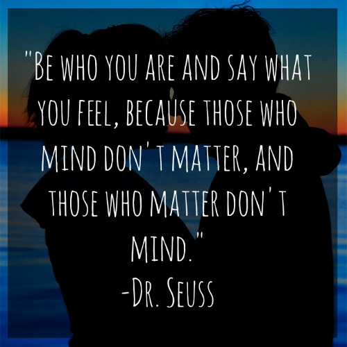 """I have learned so much during this blogging process, but one of the biggest things is not to be afraid of what people think. Always remember, """"Those who matter don't mind, and those who mind, don't matter."""""""