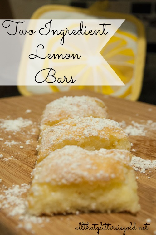 Two Ingredient Lemon Bars- Easy Recipe