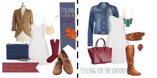 Two ways to style your white dress this fall