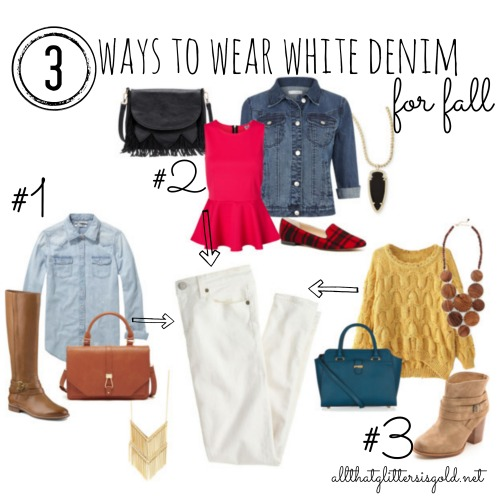 3 Ways To Wear White Denim For Fall