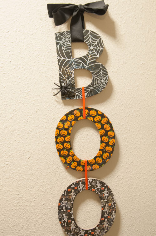 Boo Halloween Craft