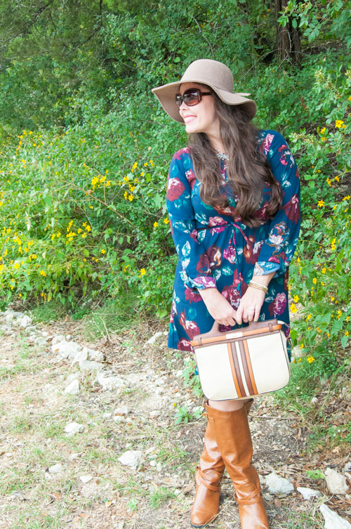 Cute shirt dress with hat and boots