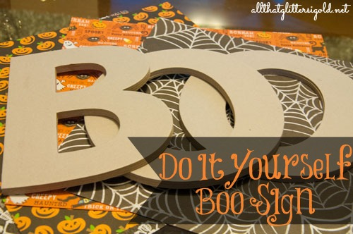 DIY Boo Wreath for Halloween