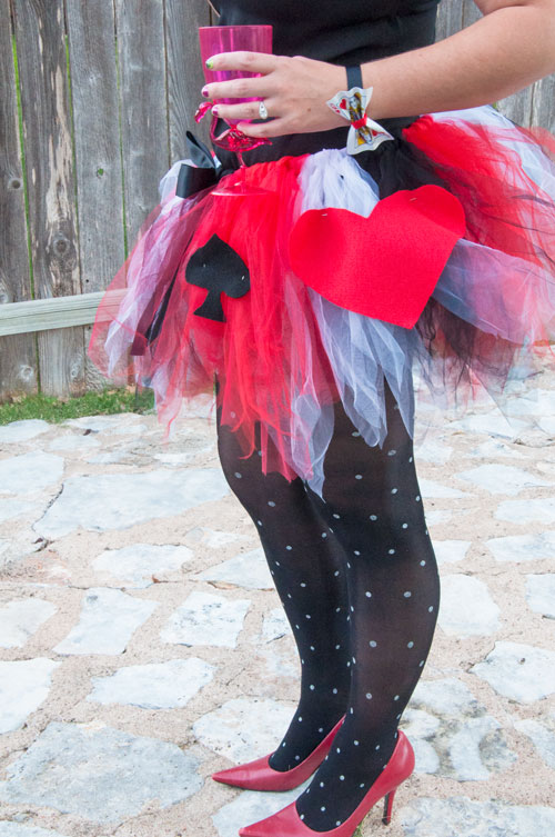 DIY Tulle Tutu for Queen of Hearts Costume