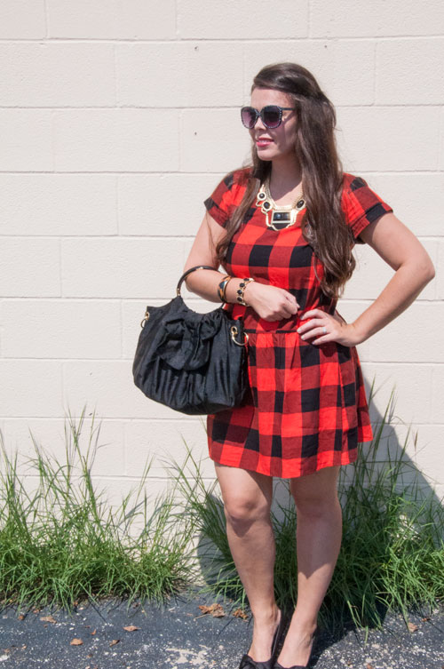 Fall Outfit Inspiration- Red and black plaid