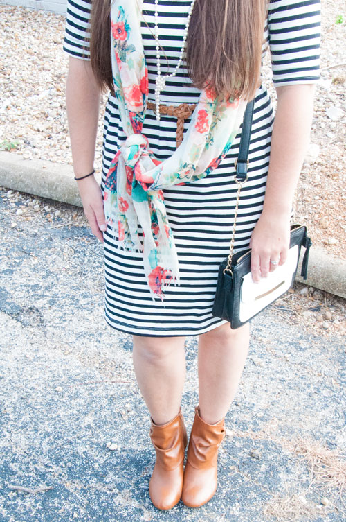 Floral and stripes with booties
