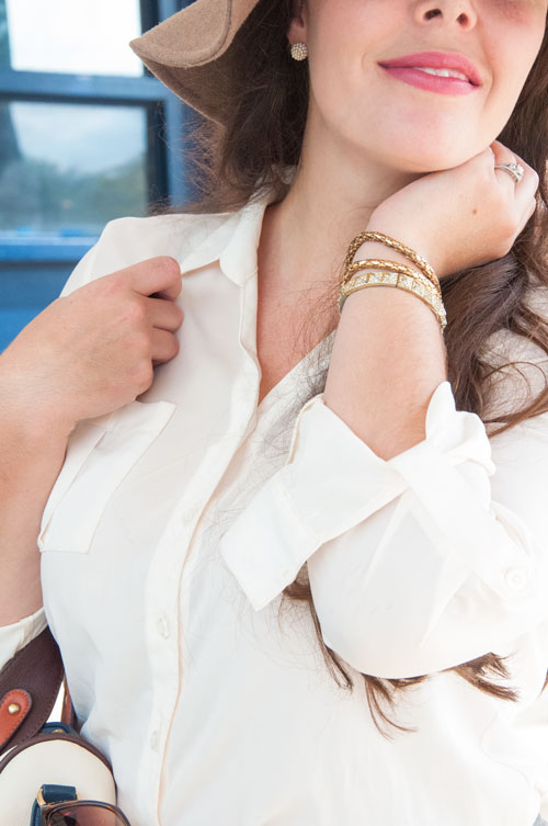 Gold accessories for fall
