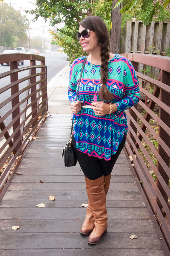 Aztec print tunic and leggings