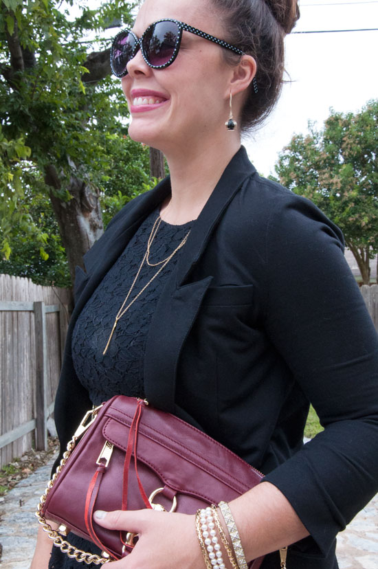Black and burgundy- Winter outfit inspiration