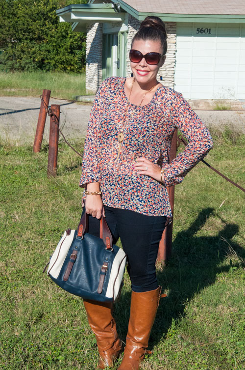 Fall Fashion- Navy and Cognac