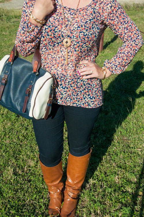 Fall Inspiration- Navy and Brown OUtfit