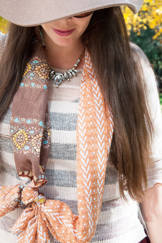 Fall outfit inspiration- Scarf and sweater