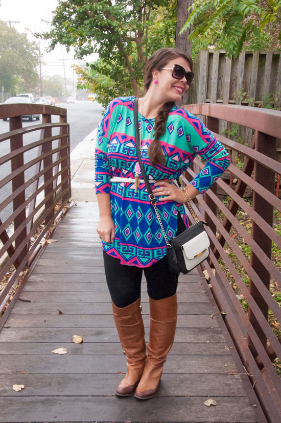 Multi Colored Aztec Tunic