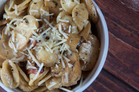 Mushroom Pasta With Homemade Cream Sauce