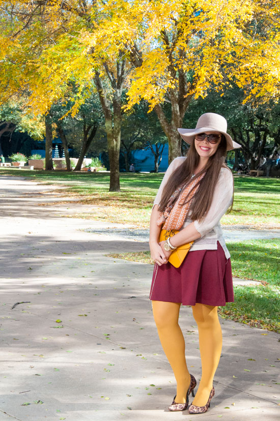 Mustard and Burgundy Outfit Inspiration