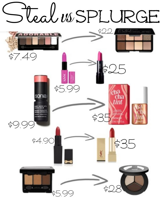 Steal vs Splurge Make up essentials