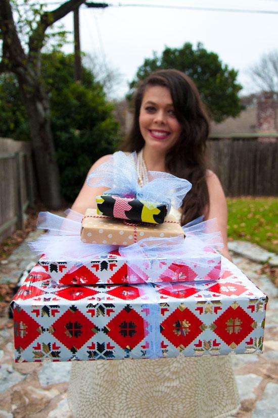 Christmas dress and presents