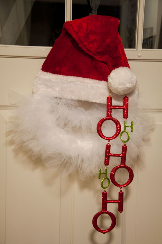 DIY Santa Claus Wreath