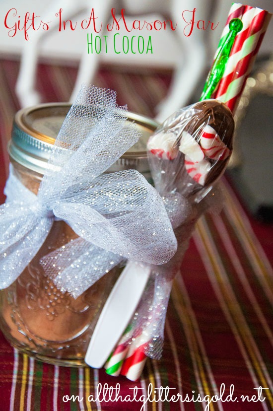 13 gifts in a mason jar- hot cocoa