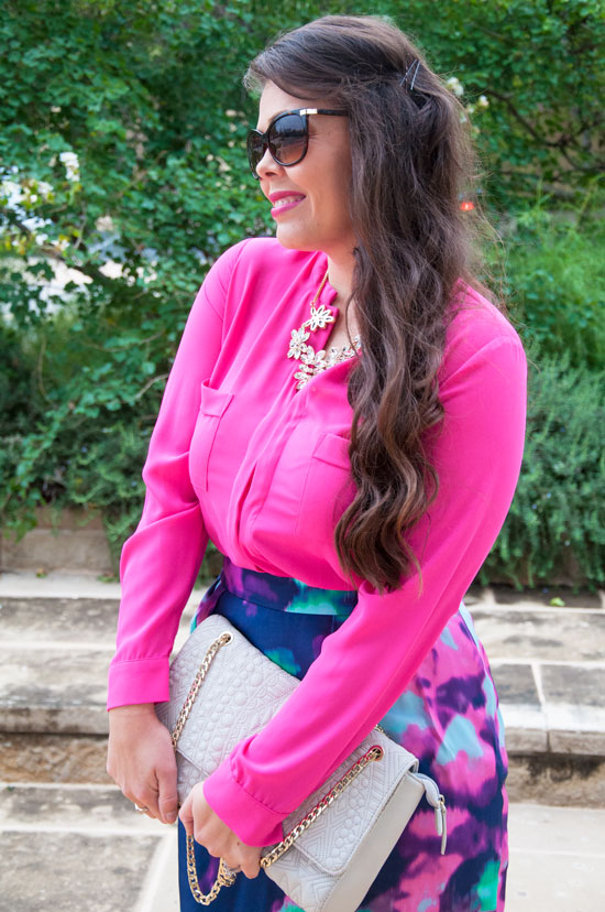 Hot pink outfit from Nordstrom Rack