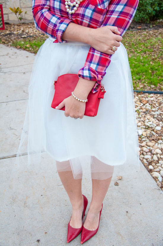 Plaid and tulle- mix and match outfit inspiration
