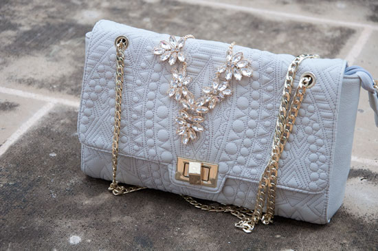 Quilted Nude Clutch from Charming Charlie