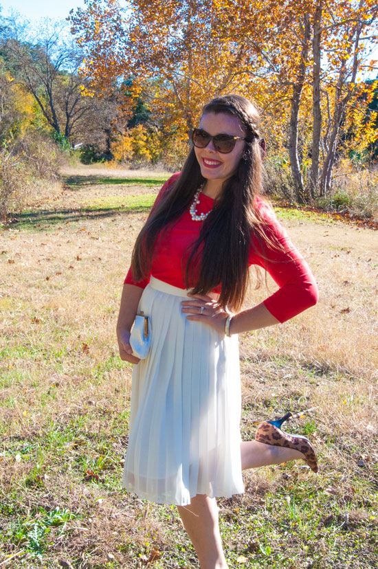Red and cream holiday attire