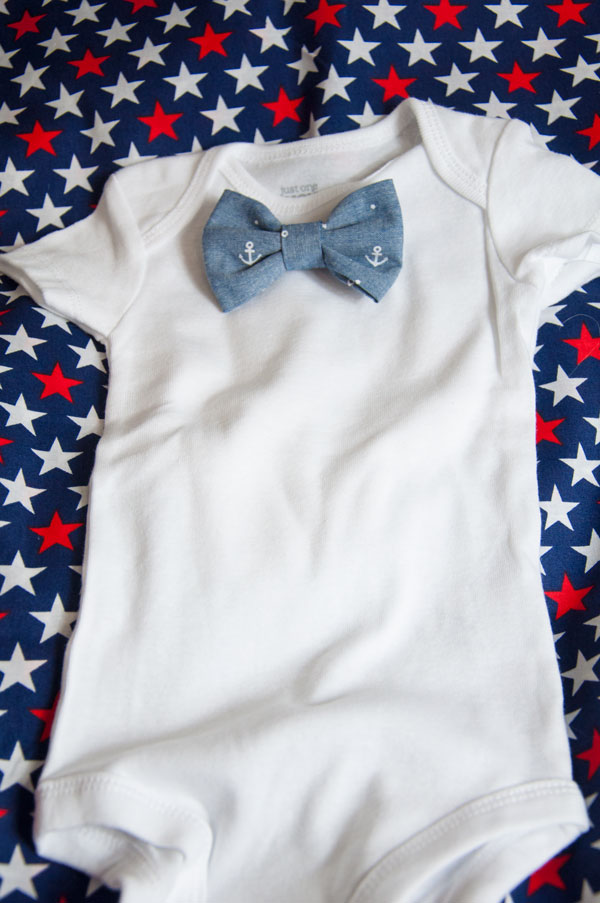 Anchor Bow Tie with Onsie