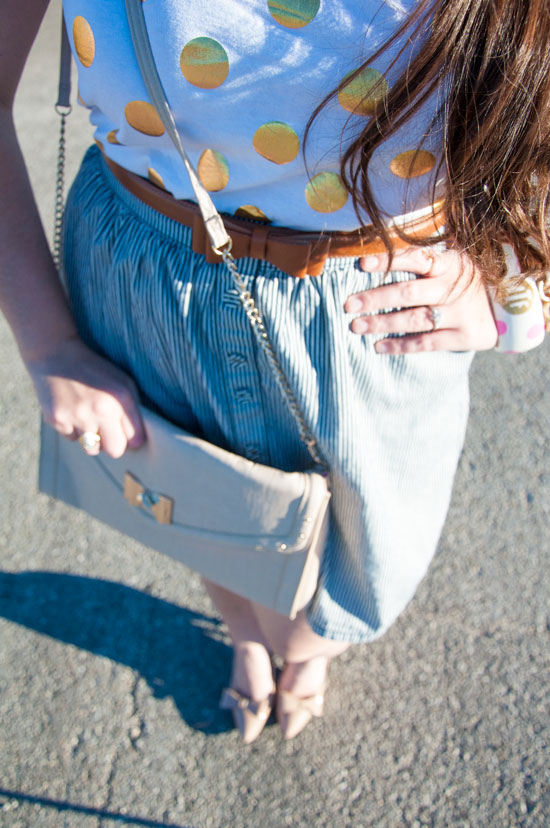 Bows and pearls- preppy outfit