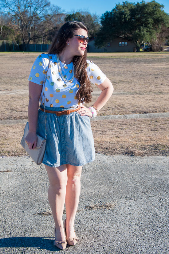 Gold dots and sailor stripes