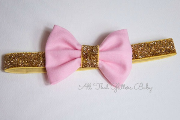 Powder Pink Glitter Headband