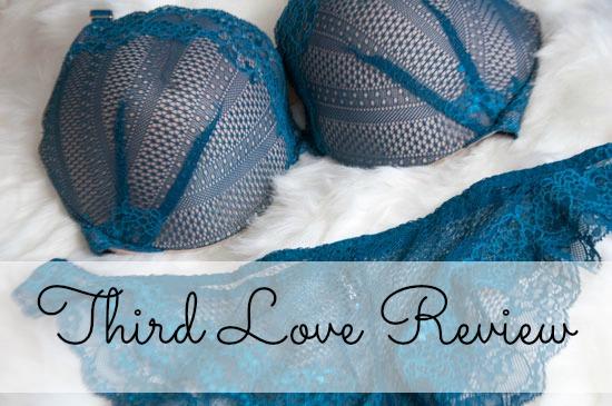 Third Love Review Teal bra and panties