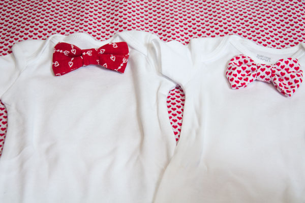 Valentine's Bow Ties with Onsies