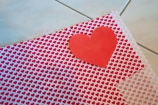 Make your own heart elbow patches