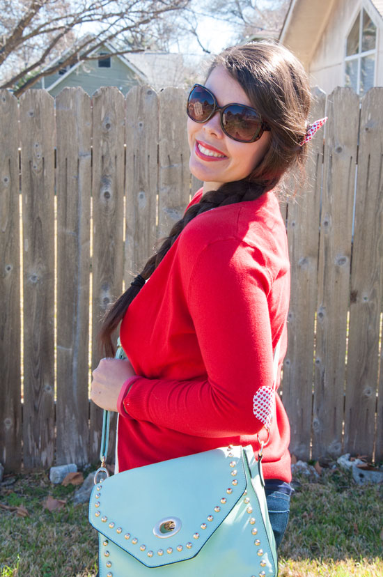 Red and Mint Outfit Inspiration Feb 2015
