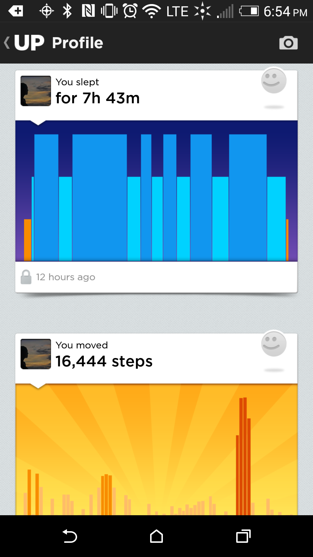 Jawbone App Sleep