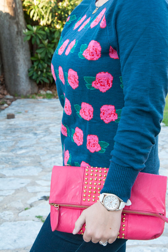 Target Navy rose sweater