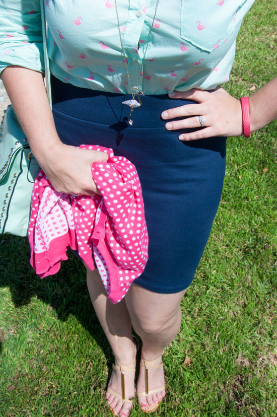 Button down and pencil skirt