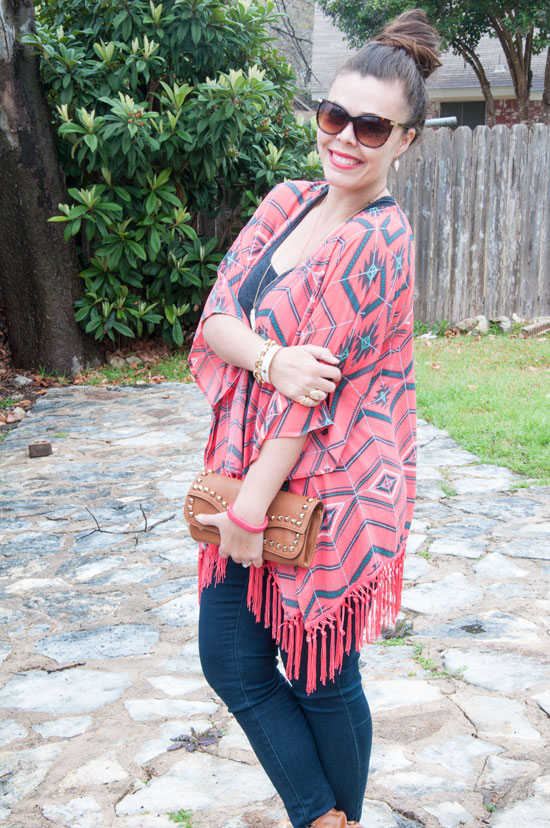Coral Kimono