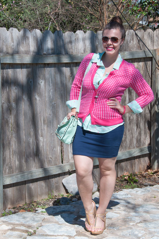 Pink Navy and Mint outfit